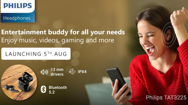 Philips Launches Two New TWS Earphones That Double As A Power Bank