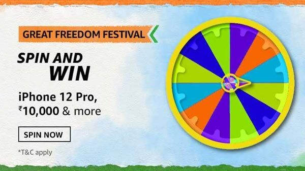 Amazon Great Freedom Festival Spin And Win Quiz Answers: Chance To Win iPhone 12 Pro, Headphones, And More
