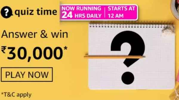 Amazon Quiz Answers For September 1: Win Rs. 30,000 Amazon Pay Balance