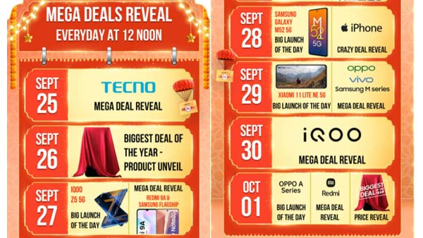 Amazon Great Indian Festival Sale 2021: Samsung, iQOO, Apple, Xiaomi, OnePlus, And Discounts Reveal Date
