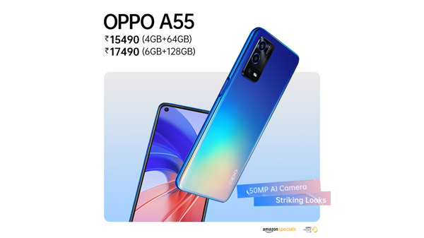 OPPO A55: Powerful Cameras Packed In A Stunning Design At a Brilliant