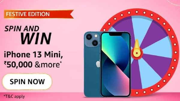 Amazon Festive Edition Spin And Win Quiz Answers: Win iPhone 13