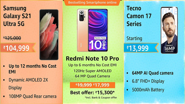 Amazon Great Indian Festival Sale 2021: Discounts On Quad Camera Smartphones From Low To Premium Price