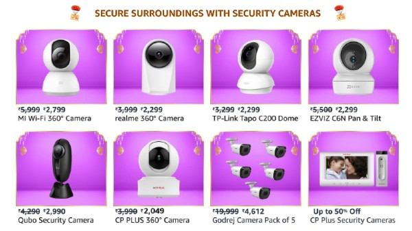 Amazon Great Indian Festival Sale 2021: Discount Offers On 360 Degree Portable Security Cameras