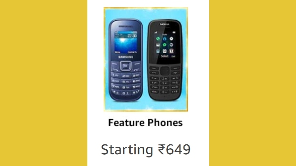 Amazon Great Indian Festival Sale: Discount Offers On Top Feature Phones