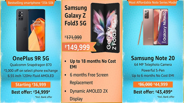 Amazon Great Indian Festival Sale 2021: 12GB RAM Smartphones Available On Discount Price