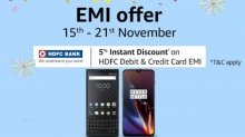 Amazon EMI Fest offers: Buy smartphones starting at Rs. 353 per month
