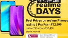 Flipkart Realme Days Sale: Offers on Realme 3 Pro, Realme X And More