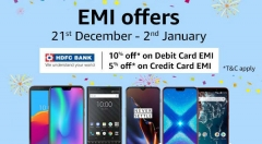 Amazon EMI Fest Offers: Get Nokia 8, Galaxy S9 Plus, Oppo R17 Pro, Xperia XZ2 and more on EMI