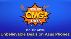 Flipkart Asus OMG Days (15th to 18th April): Zenfone 5Z, Zenfone Max Pro M1, Max Pro M2, Zenfone Lit