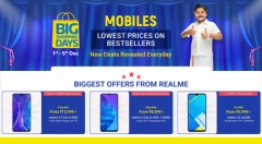 Flipkart Mobiles Big Shopping Days Offers: Realme XT, Realme 5, Realme 5 Pro And More