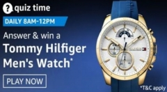 Amazon Quiz Answers For December 31: Win Tommy Hilfiger Men's Watch