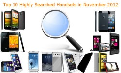 Top 10 Highly Searched Handsets in November 2012