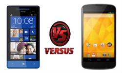 LG Nexus 4 vs HTC 8S: Android 4.2 and Windows Phone 8 Challengers Collide