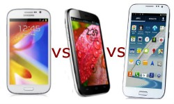 Galaxy Grand vs Micromax A116 Canvas HD vs Wammy Titan: Android Jelly Bean Phablets Specs Smackdown