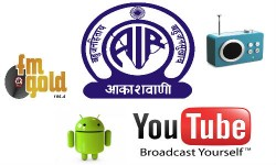 All India Radio Outs Android App, Youtube Channel, AIR Urdu and FM Gold Services
