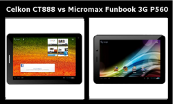Celkon CT 888 vs Micromax Funbook 3G P560: Which 3G Voice Calling Tablet at Rs 7999 Is Your Choice?