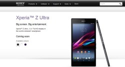 Sony Xperia Z Ultra Spotted On Sony India Site As Coming Soon And Saholic Hints July 31 Launch