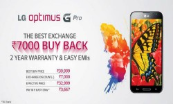 LG Launches Buyback Scheme on Optimus G Pro: Exchange Your Old Smartphone And Get Rs 7,000 Discount