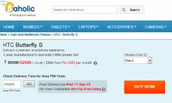 HTC Butterfly S Now Available for Pre-Order in India : Will You Buy The 5 Inch Phablet at Rs. 52,428