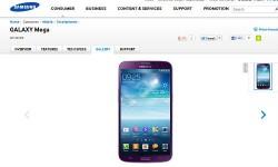 Samsung Galaxy Mega 6.3 Purple Variant Gets Listed Online