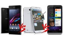 Sony Xperia Z1 vs Samsung Galaxy Note 3 vs BlackBerry Z30: The Phablet War Fuels Up