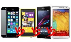 Top Smartphones Launched in India: Galaxy Note 3 vs Sony Xperia Z1 vs Nokia Lumia 1020 vs LG G2
