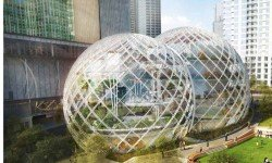 Amazon Plans For A Futuristic Glass Building At Seattle