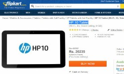 HP 10 Tablet Up For Sale in India Online For Rs 20,235