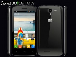 Micromax Canvas Juice A177 VS Top 10 Best Android Smartphones Rivals
