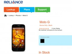 Moto G CDMA variant From Reliance Up For Sale at Rs 13,490: EMI Options Available