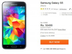 Samsung Galaxy S5 Gets A Price Cut to Rs 46,881 Amid HTC One M8 Launch in India