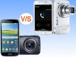Samsung Galaxy K zoom Vs Samsung Galaxy S4 zoom: The In-House Camera Battle