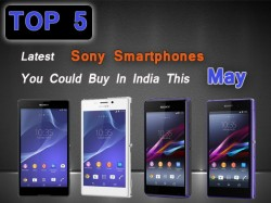 Top 5 Latest Sony Corporation Smartphones You Could Buy In India This May