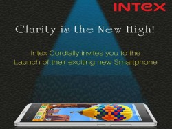 Intex Sends Out Invite For New Smartphone Launch on May 15