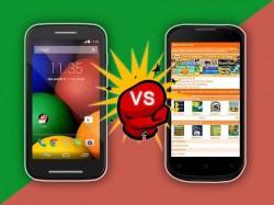 Micromax Canvas Engage Vs Motorola Moto E: Will Lesser Market Prices Influence Bigger Sales?
