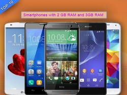 Top 10 Best Smartphones with 2GB and 3GB RAM Support To Buy In India in June 2014