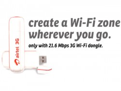 Airtel Launches 3G Dongle with Wi-Fi Offering up to 21.6 mbps Download Speed