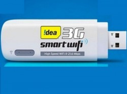 Idea Smart 3G Wi-Fi Dongle Launched For Rs 2,199: Offers Connection To 10 Devices