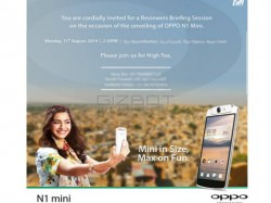 Oppo N1 Mini India Launch Date Set for August 11