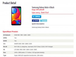 Samsung Galaxy Note 4 With 5.7-inch QHD Display and 4GB RAM Gets Listed Online