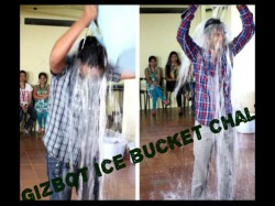 GizBot Steps Up to the ALS Ice Bucket Challenge; And Absolutely Nails it