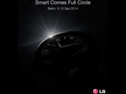 LG Teases G Watch R Smartwatch Ahead of IFA 2014