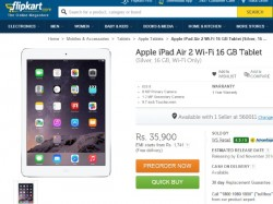 Apple iPad Air 2 Pre-Order Starts in India at Rs. 35,900 Via Flipkart: Top 10 Tablets Rivals