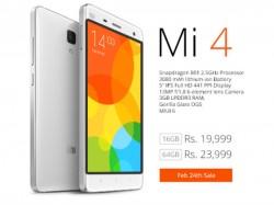 Xiaomi Mi4 Third Flash Sale Registration Opens at 6PM Today, Mi4 64GB to Go on Sale