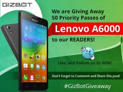 GizBot Giveaway: 50 Free Lenovo A6000 Invites are Here, Play to Win!