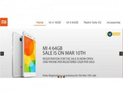 Xiaomi Mi 4 64GB to Go on Sale Tomorrow on Flipkart at 2PM