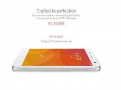Xiaomi Mi 4 64GB Went Out Of Stock in an Hour in Third Flash Sale