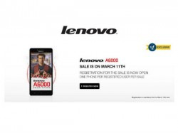 Lenovo A6000 to Go on Sixth Flash Sale Tomorrow on Flipkart