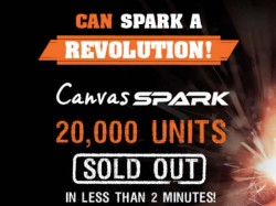 Micromax Canvas Spark: 20,000 Units Sold in Less Than 2 Minutes in First Flash Sale